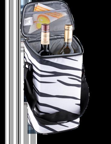 Сумка-холодильник Igloo 2 Bottle Wine Tote 16 (белый, зебра)