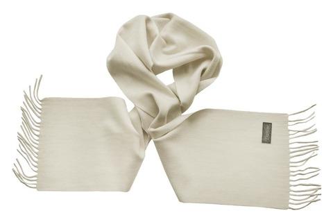 Шерстяной шарф молочный 00055