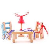 Деревянный набор со шнуровкой