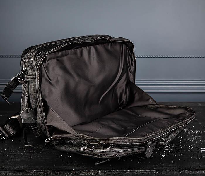 BAG512-1 Портфель рюкзак трансформер из натуральной кожи фото 18