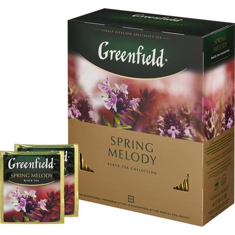 Чай Greenfield Spring Melody черный фольгир.100 пак