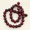 Бусина Хризоколла (тониров), шарик, цвет - темно-красный, 10 мм, нить