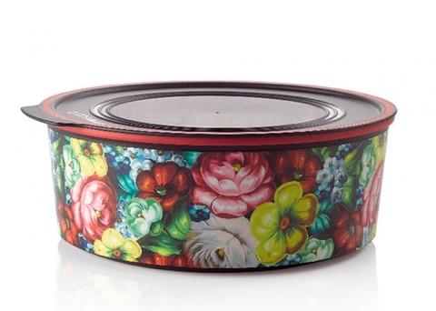 Акваконтроль круглый Цветочный узор (1,5 л) Tupperware