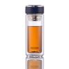 Стеклянная бутылка с двойными стенками для заваривания чая 300 мл