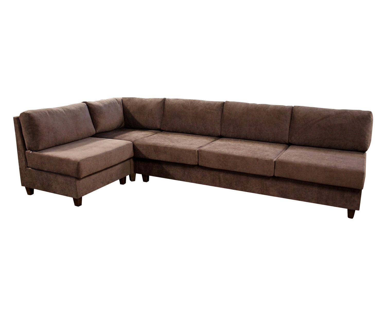 Угловой модульный диван Япошка с низкими подушками без втяжек