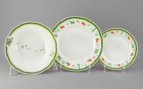 Набор тарелок 18 предметов с тарелками десертными  19 см Мэри-Энн Leander