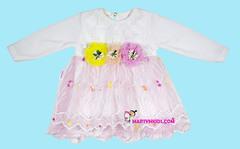 376 платье три цветочка