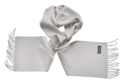 Шерстяной шарф белый 00050