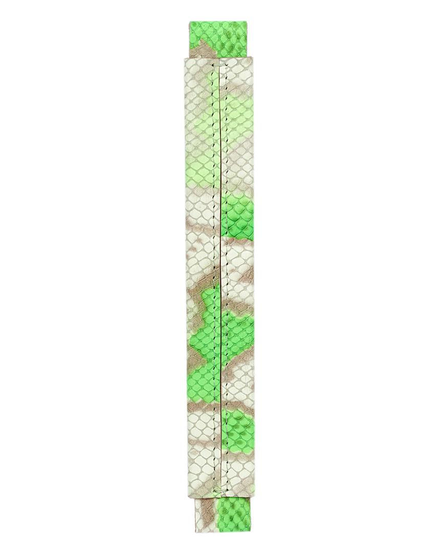 Сменная ручка из кожи с фактурой питона