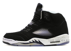 Кроссовки Мужские Nike Air Jordan V Retro Black White