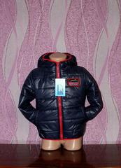 Детская куртка на синтепоне, тёмно-синяя