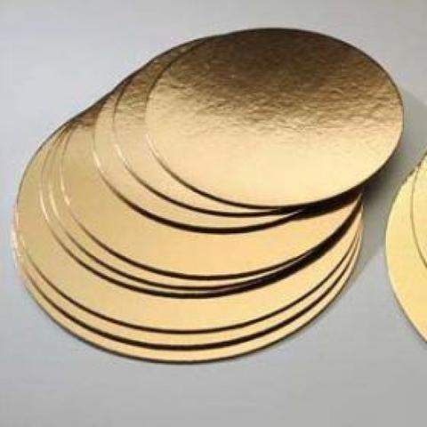 Подложка Pasticciere усиленная 3,5 мм, d=40 см (золото/жемчуг)