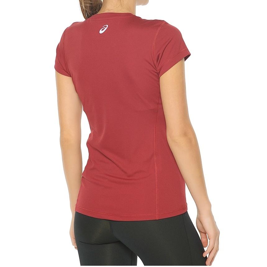 Женская беговая футболка Asics Graphic SS Top (110423 6010) красная фото