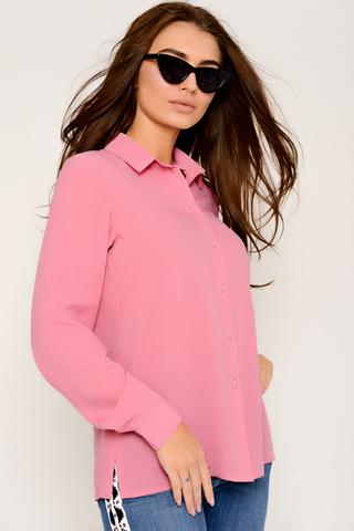 """Рубашка (сакура). Классическая рубашка, выполнена из креп-шифона. Ворот на стойке, длинный рукав на манжете. Рекомендуем в комплекте с жилетом """"Бланка"""". (Длина: 44-52 = 66см;)"""