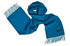 Шерстяной шарф синий 00105