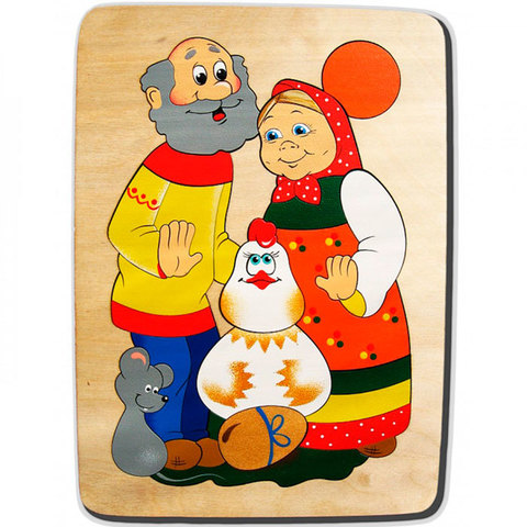 Мозаика-вкладыш Курочка Ряба, Крона 143-018