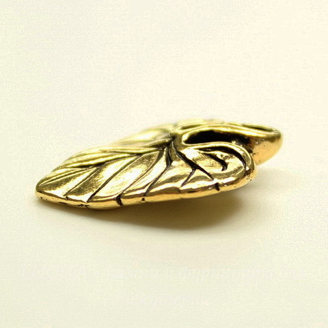 "Подвеска TierraCast ""Лист фиалки"" (цвет-античное золото) 18х15 мм"