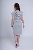 Платье 09580 серый в полоску
