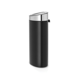 Мусорный бак Touch Bin New (40 л), Черный матовый, крышка стальная матовая, арт. 114847 - превью 2