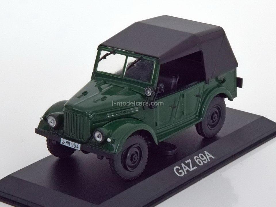 GAZ-69A dark green 1:43 DeAgostini Masini de legenda #18