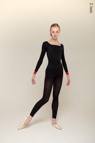 4 Sleeves leotard (black)