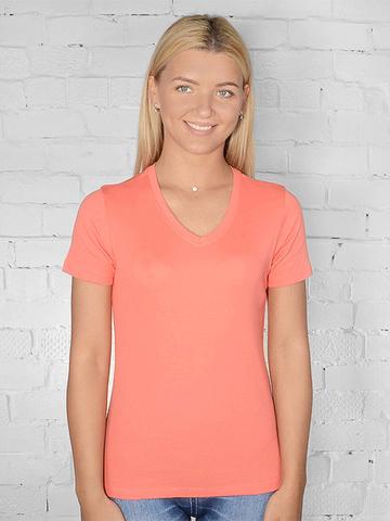 021-38 футболка женская, оранжевая