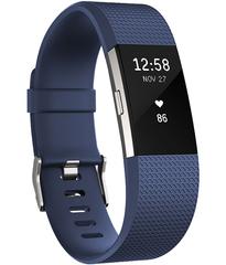 Умный фитнес-браслет Fitbit Charge 2, Синий (S), FB407SBUS-EU
