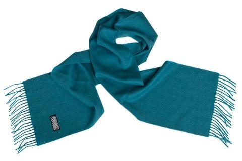 Шерстяной шарф морская волна 00100