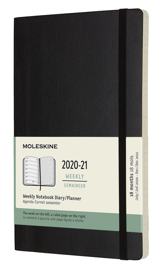 Еженедельник Moleskine ACADEMIC SOFT WKNT,black