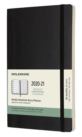 Еженедельник Moleskine ACADEMIC SOFT WKNT,black, фото 2