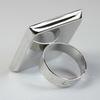 Основа для кольца с квадратным сеттингом 25х25 мм (цвет - платина)