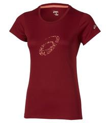Женская футболка Asics Graphic SS Top (110423 6010) красная фото