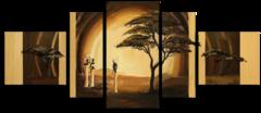 """Модульная картина """"Золотистая Африка"""""""