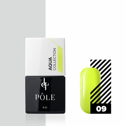 Краска POLE для акварельной техники Aqua Collection №09 желтая (8 мл)