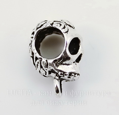 "Бейл TierraCast ""Череп"" 17х9 мм (цвет-античное серебро)"