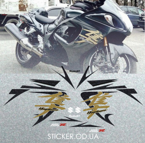 Набор виниловых наклеек на мотоцикл SUZUKI HAYABUSA, 2008 -2009