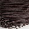 Вощеный шнур, 1 мм, цвет - коричневый, примерно 80 м