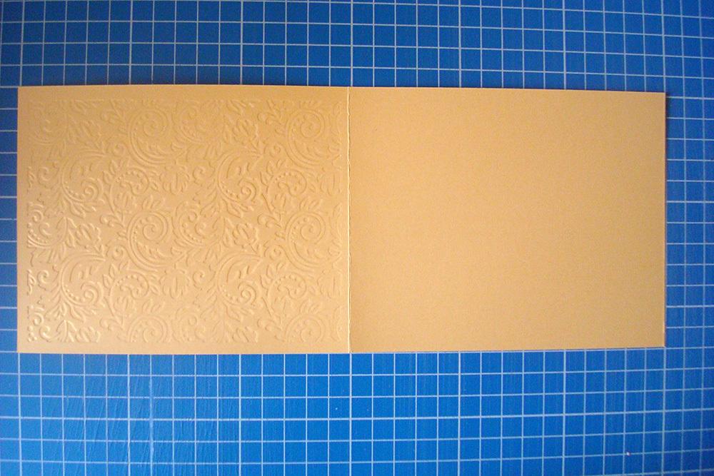 Заготовка для открытки «Узоры» 12х15 см, золото