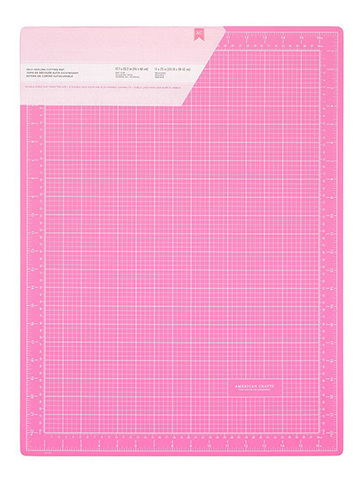Коврик для резки 45х60 см,  самовосстанавливающийся Pink Double-Sided Self-Healing Cutting Mat -  PINK