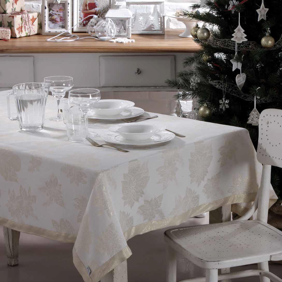Скатерть 140x240 Vingi Ricami Luxury золотая