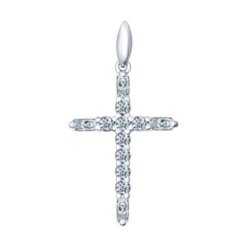 Крест из серебра в стиле Tiffany с фианитами от SOKOLOV