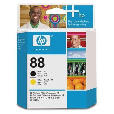 Печатающая головка HP C9381A (№88) B+Y Printhead картридж с черной и желтой печатающей головкой для Hewlett-Packard OfficeJet Pro K550, K5400,  L7580, L7680, L7780. Ресурс: 90 000 стр.