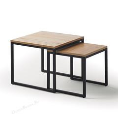 Комплект из двух квадратных столиков CT-907 Дуб
