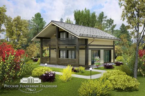 """Двухэтажный дом """"Куртуа"""" 150 кв.м. из СИП панелей"""