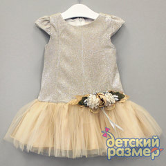 Платье (блестки, брошь, сетка)