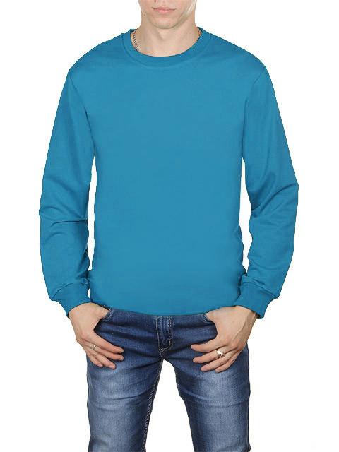 30570-10 футболка мужская дл. рукав, голубая