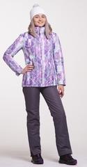 Женский утеплённый прогулочный лыжный костюм Nordski City Violet-Mint-Grey