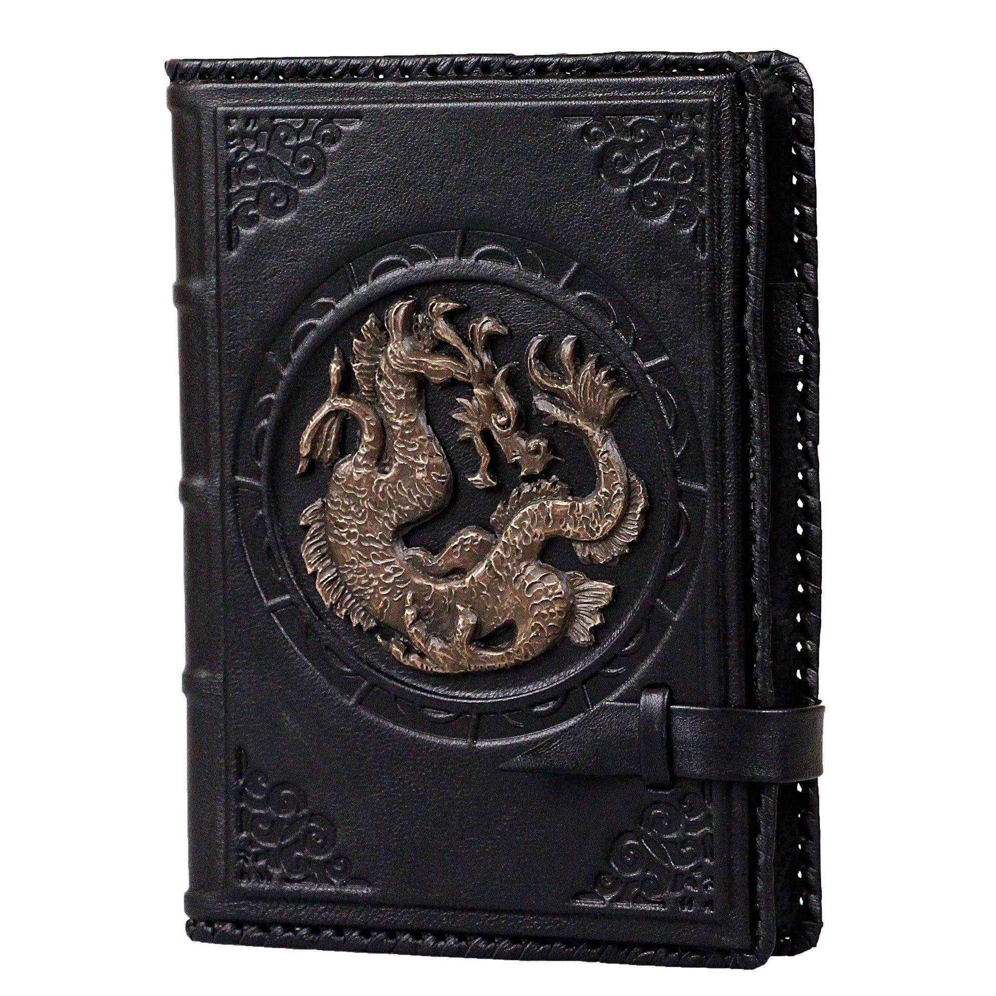 Ежедневник кожаный А5 «Дракон» чёрный А80406