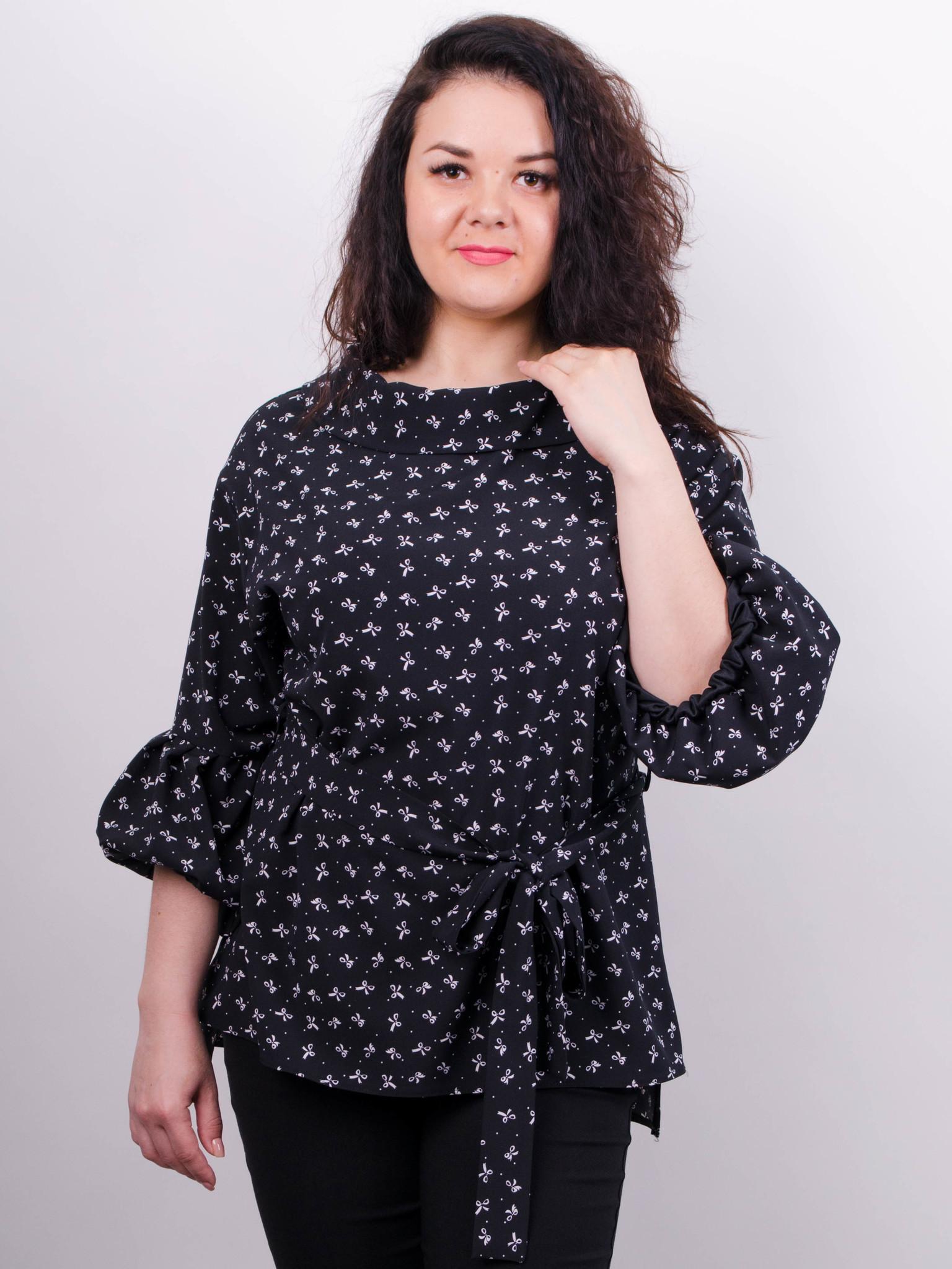 6e4fc0c6401 Мила. Стильная блуза больших размеров. Бантики. - купить по выгодной ...