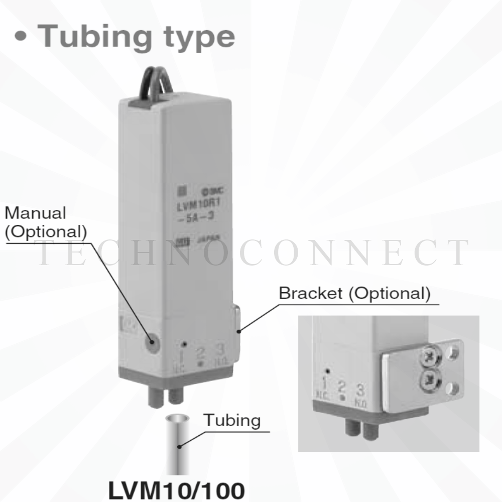 LVM102RY-6C-6-Q   3/2 Клапан химич. стойкий, 12VDC